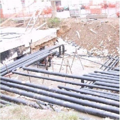 Fase di costruzione impianti di raffreddamento e riscaldamento