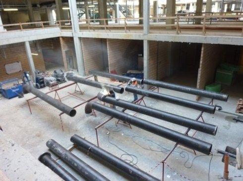 Distribuzione acqua surriscaldata 140°C Impianti riscaldamento industriali