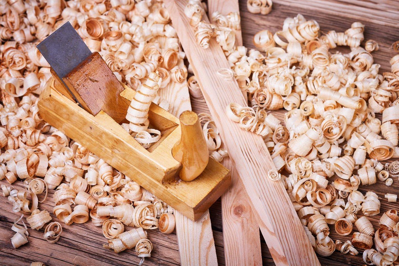 Pialletto con trucioli di legno