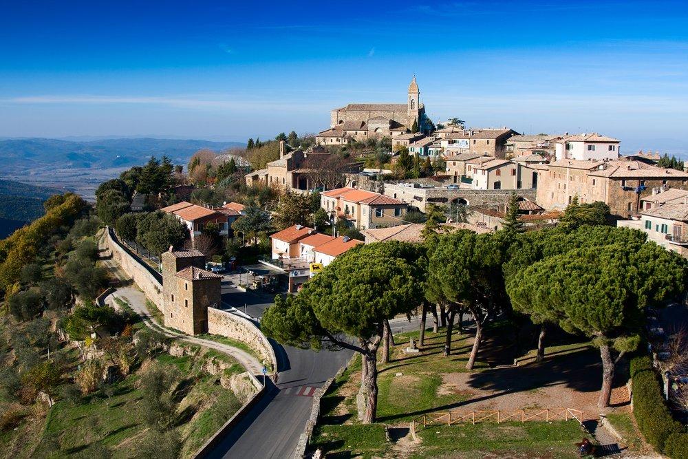 panoramica di Montalcino