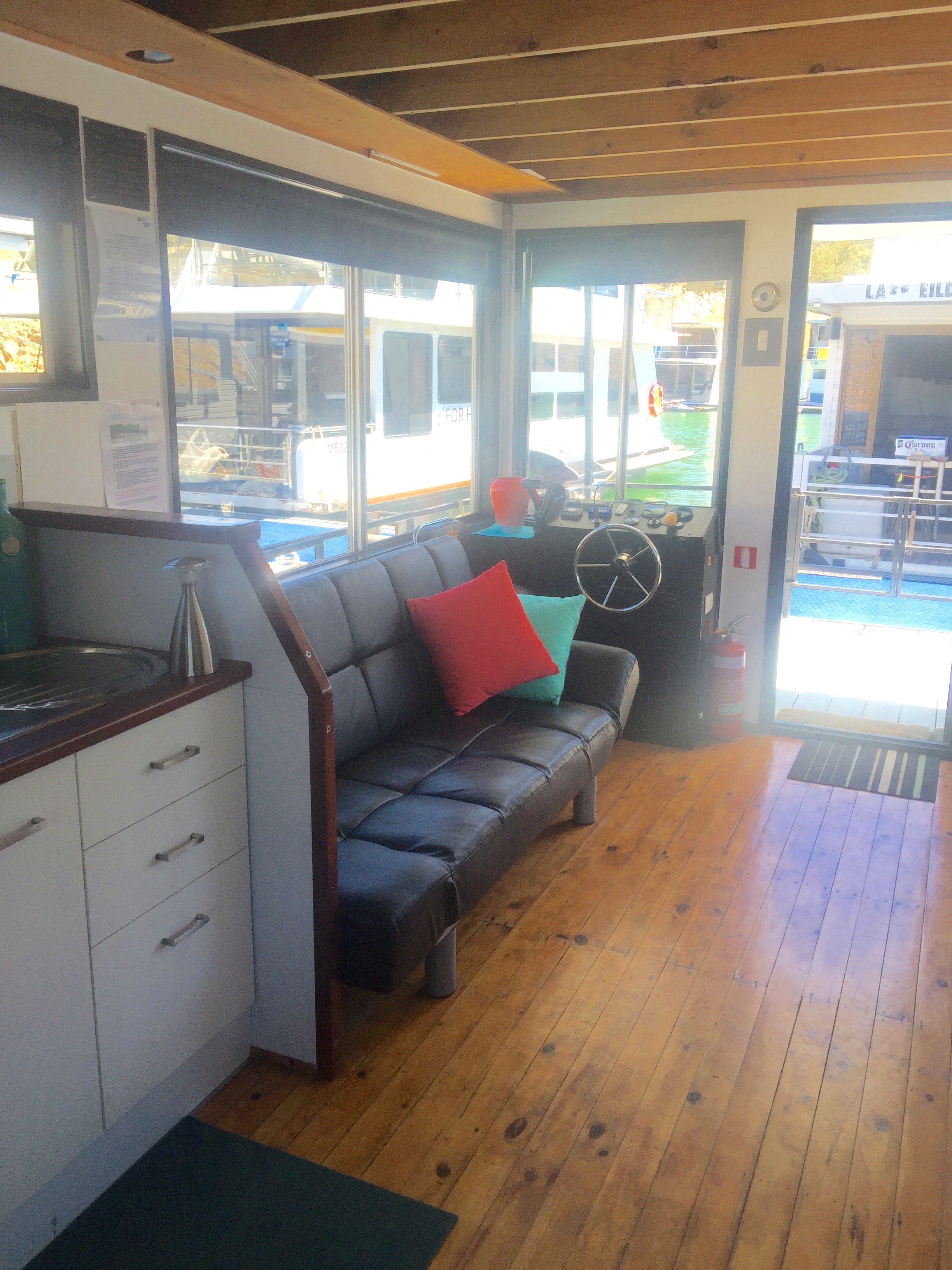 Interior view of the houseboat