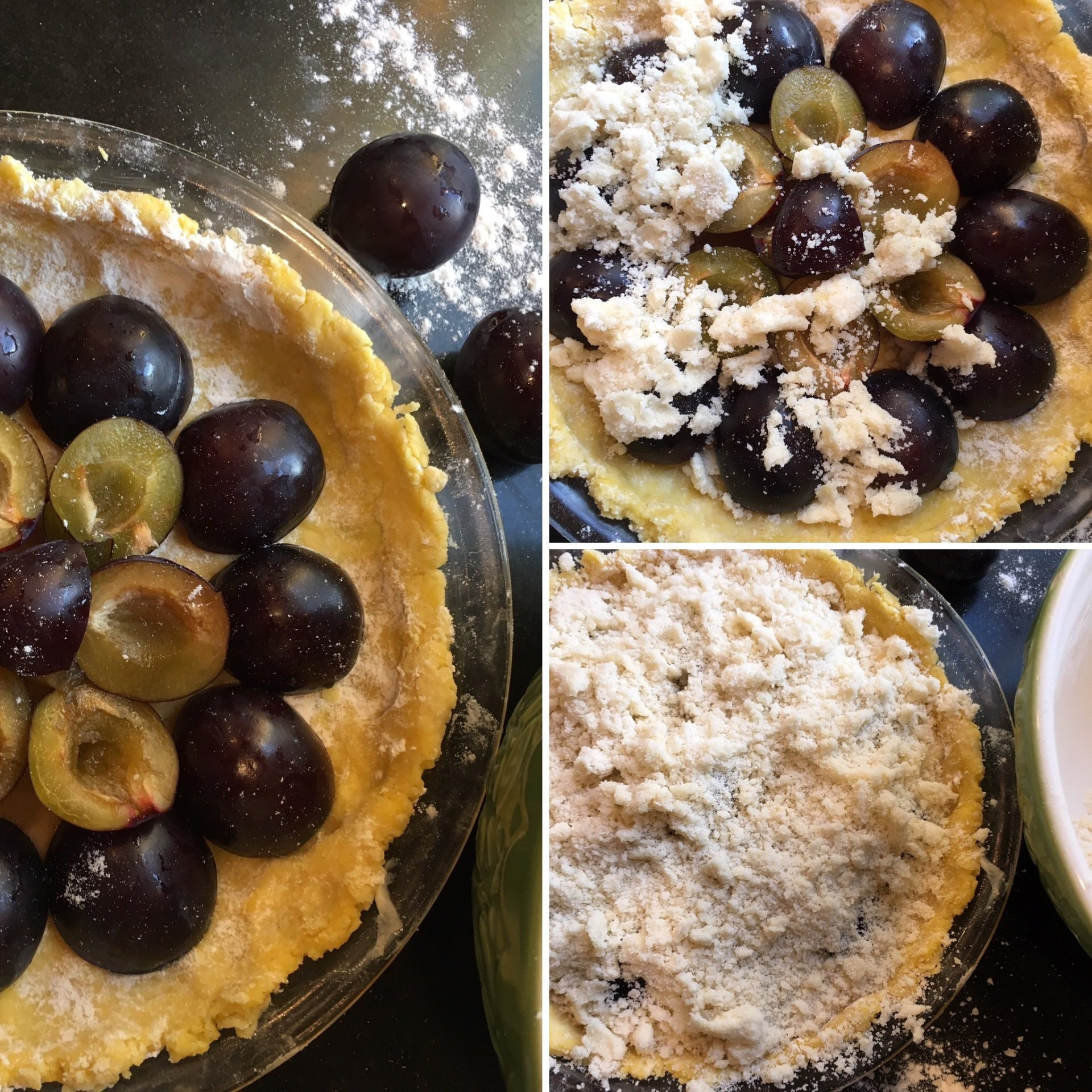Plum Kuchen with Streusel Topping