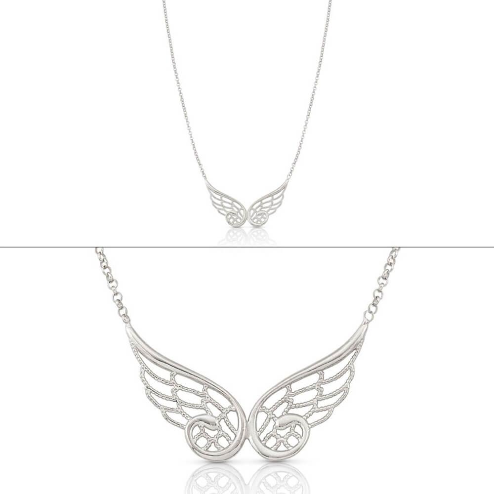 due collane con ali di farfalla