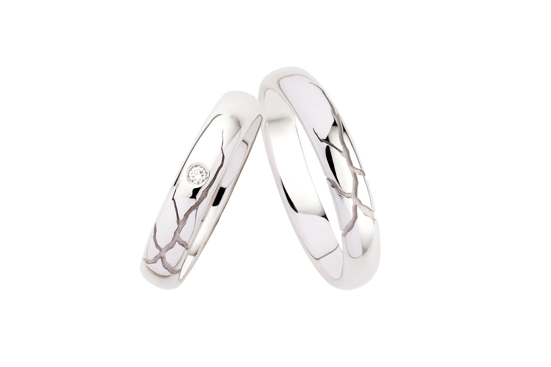 anelli d'argento con rifiniture