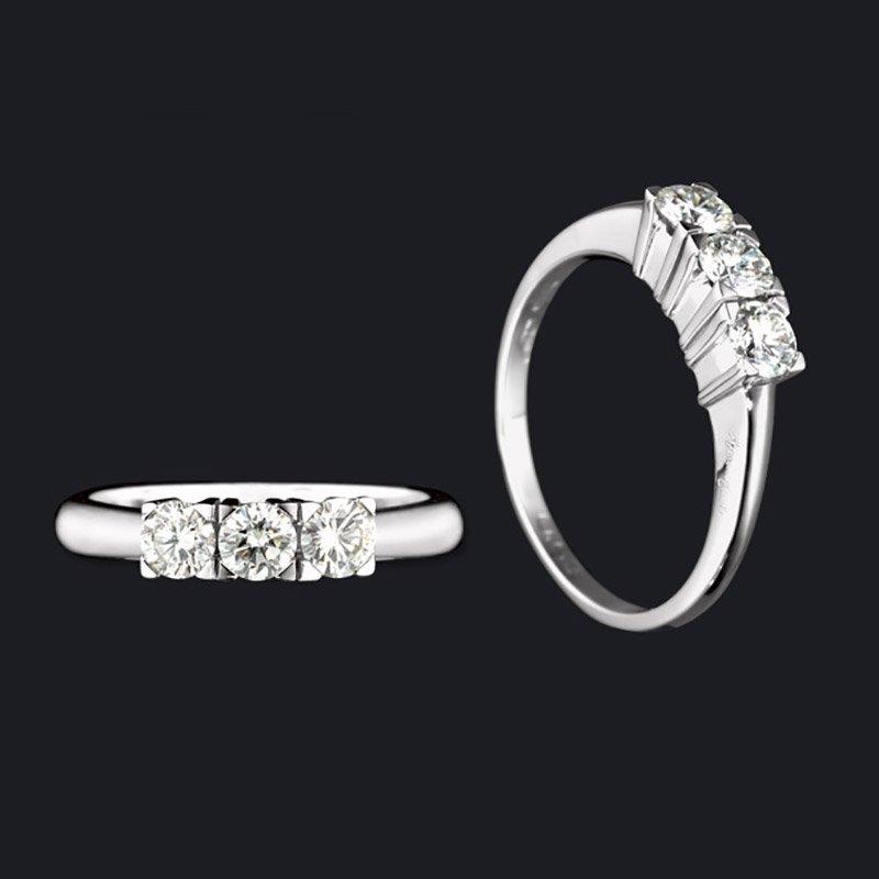 Gianni carità Anello Trilogy oro bianco e diamanti Codice: FA1598