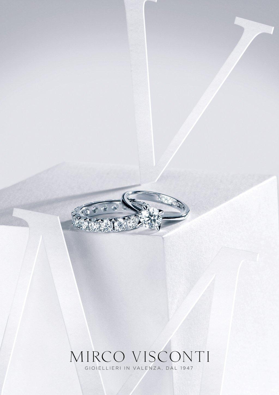 anelli d'oro bianco
