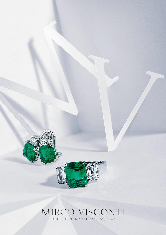 anelli con pietra verde