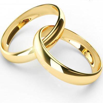 una coppia di fedi d'oro
