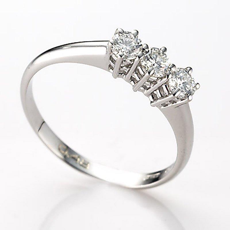 Gianni carità Anello Trilogy oro bianco e diamanti Codice: FA1419