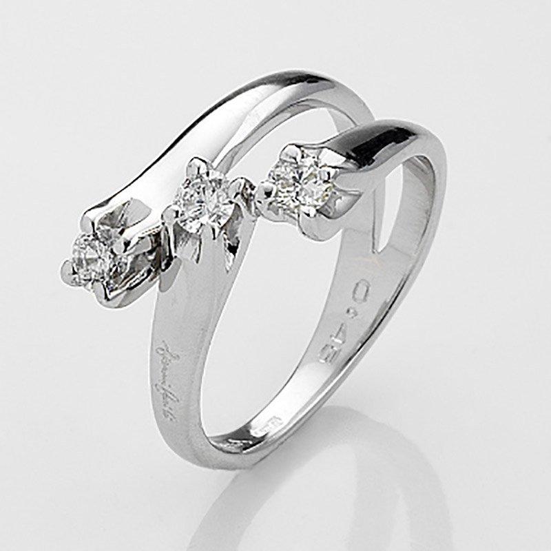 Gianni carità Anello Trilogy oro bianco e diamanti Codice: FA1498