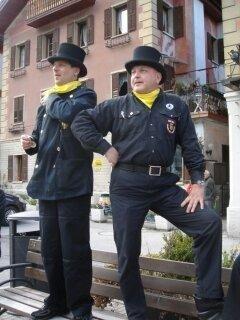 Presidente Spazzacamini e Fumisti sul podio in una delle tante piazze d Italia dove facevamo dimostrazioni