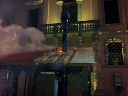 simulazione incendio tetto a Cividale del Friuli