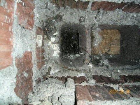 Esempio di ostruzione da nido di vespe