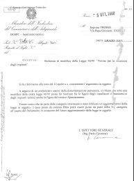 Risposta al dossier spedito al ministero del lavoro