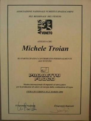Verona attestato di partecipazione evento fiera progetto fuoco