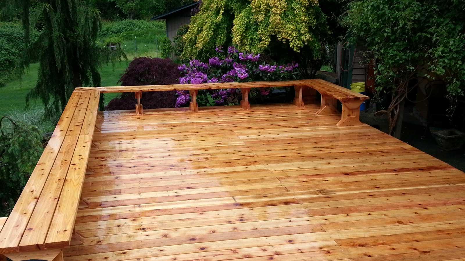 After deck renovation