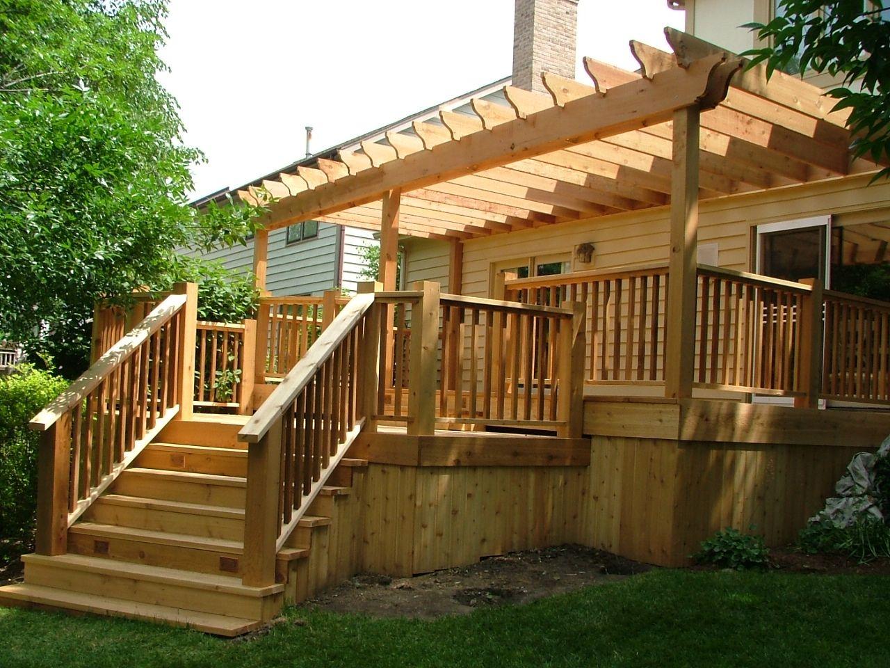 Cedar deck project