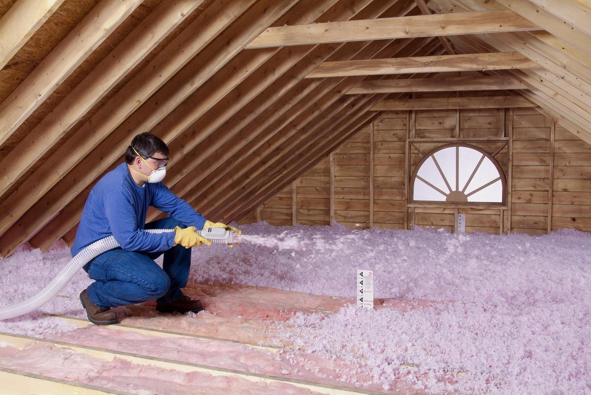 Attic insulation service