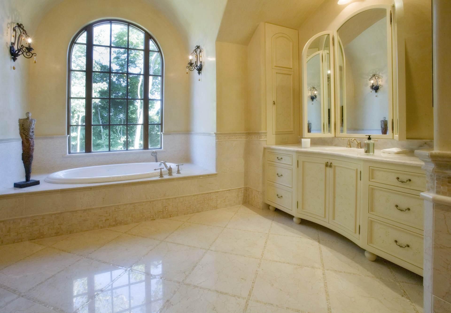 After bathroom remodeling