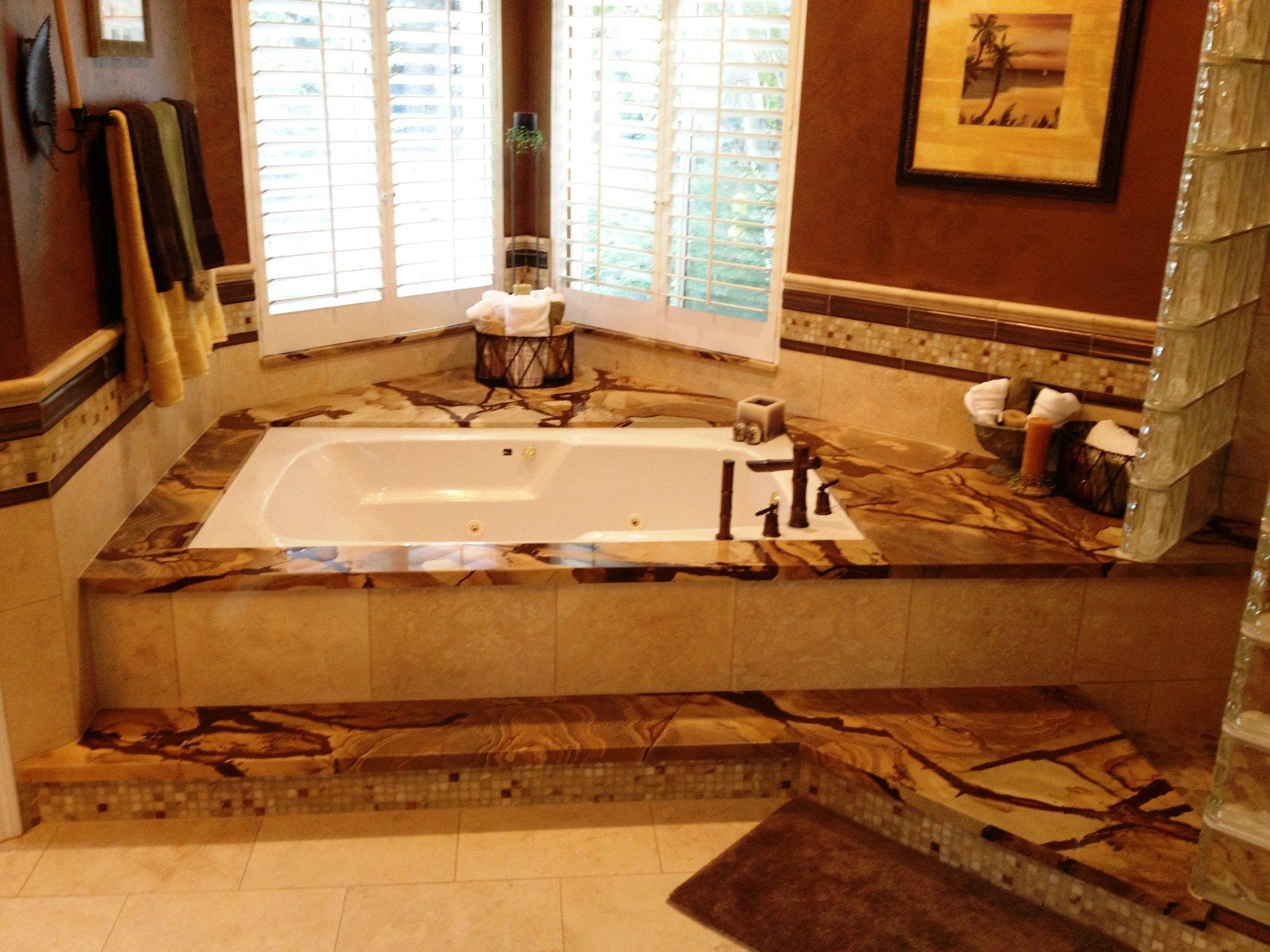After bathroom remodeling work