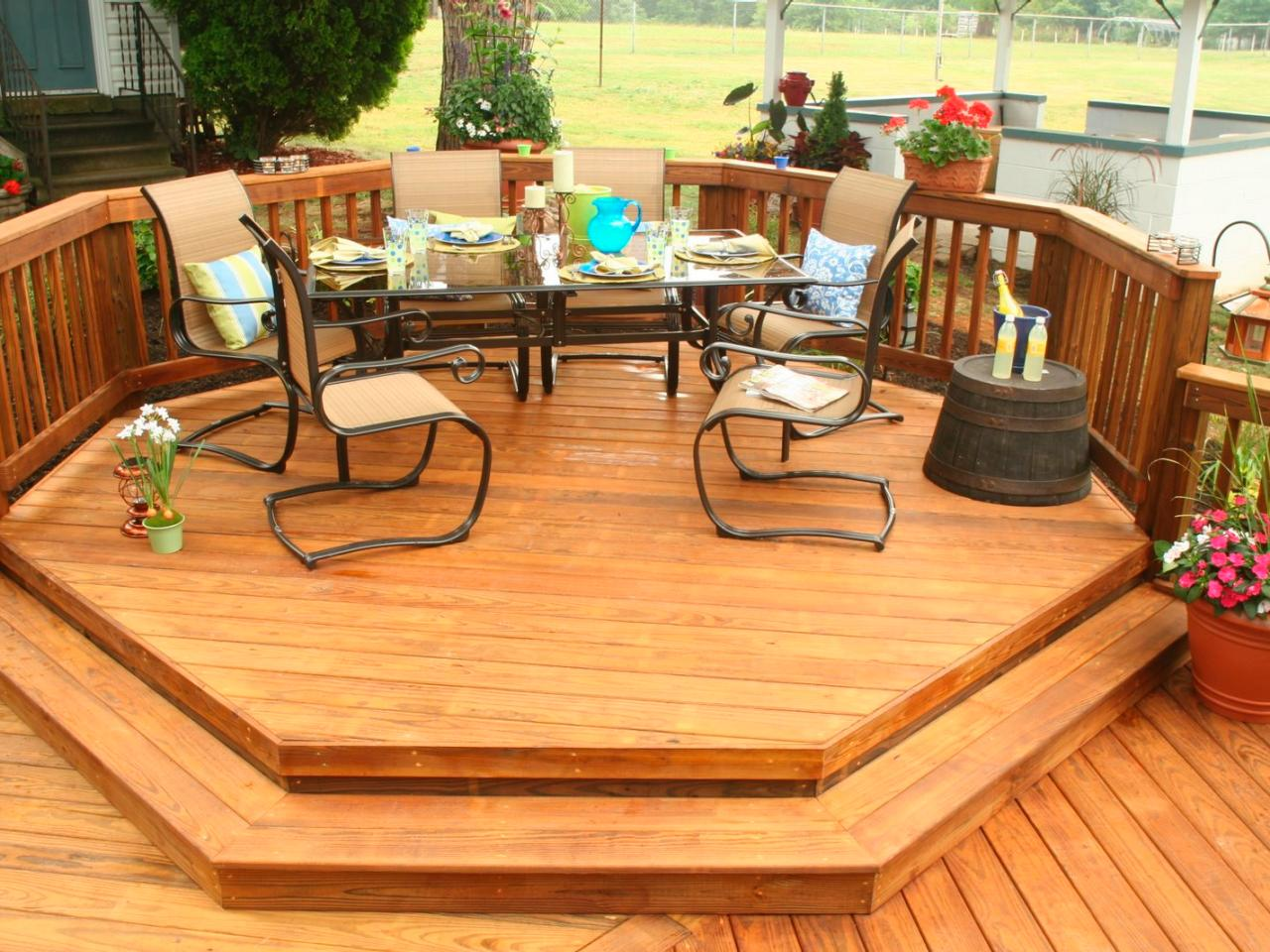 Pressure treated cedar deck