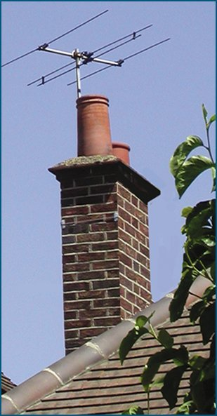 Chimney with aerial on top