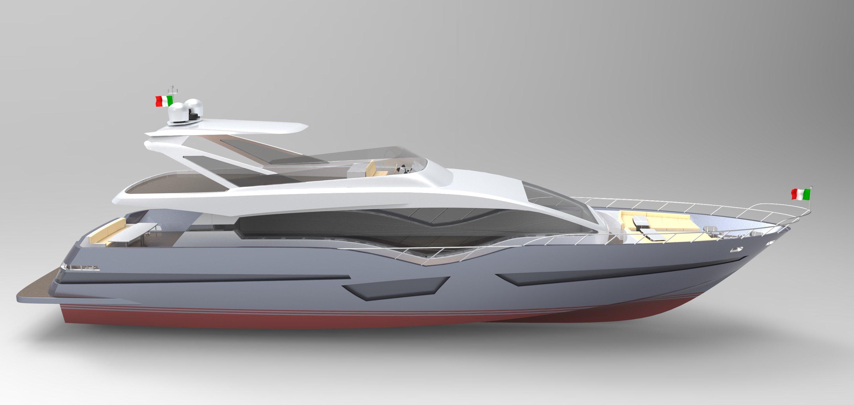 Render 3d di barca