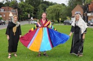 Colourful costume