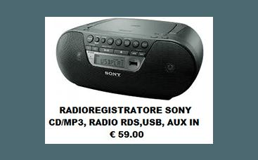 radioregistratore sony
