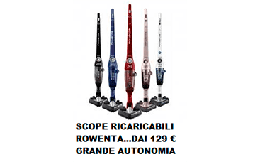scope rowenta ricaricabili