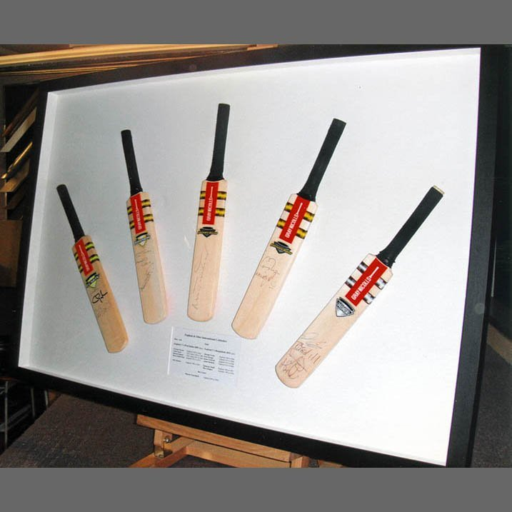 Cricket bat frames