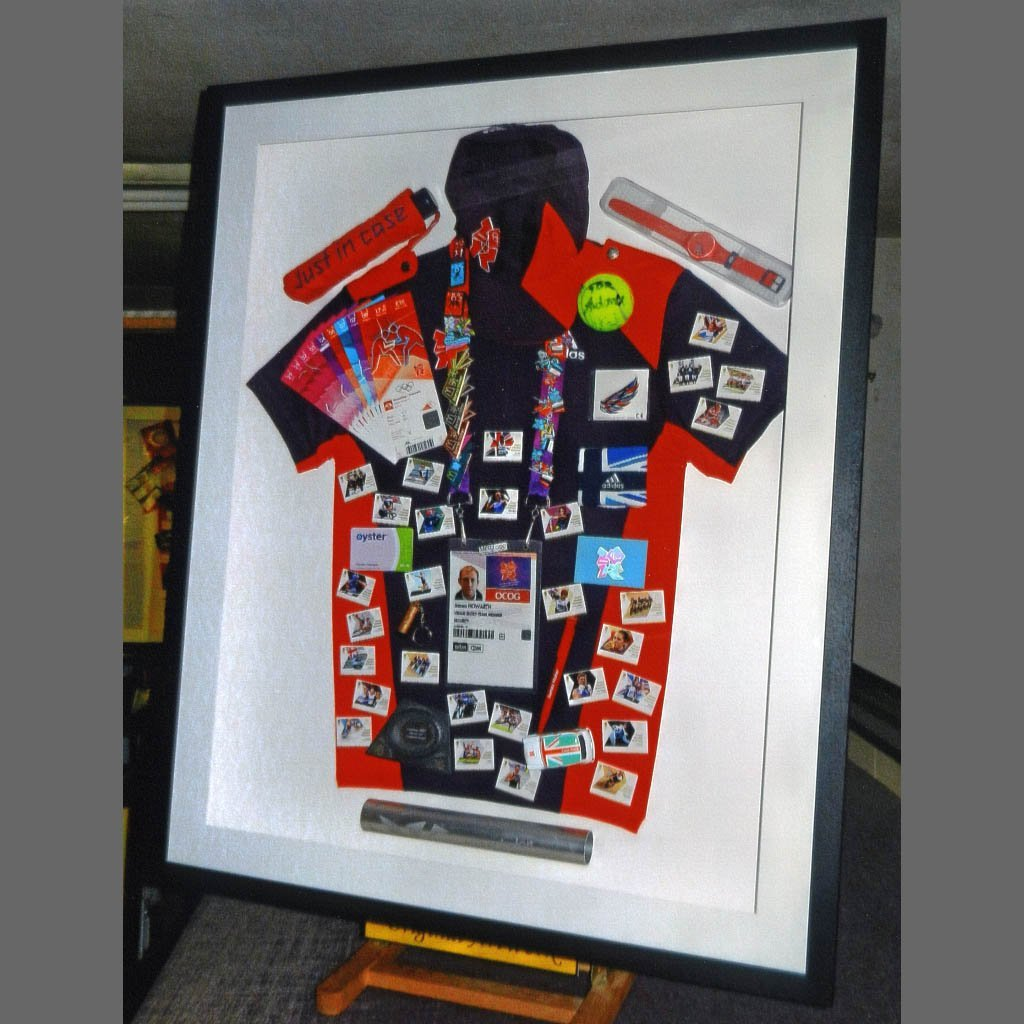 Customised T-shirt framing