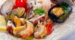 guazzetto di frutti di mare e gamberi