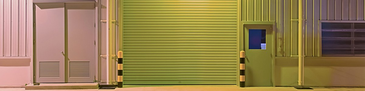 maintain a door with green garage door
