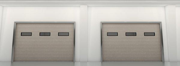 maintain a door with grey garage door