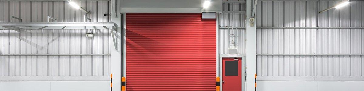 maintain a door with red garage door