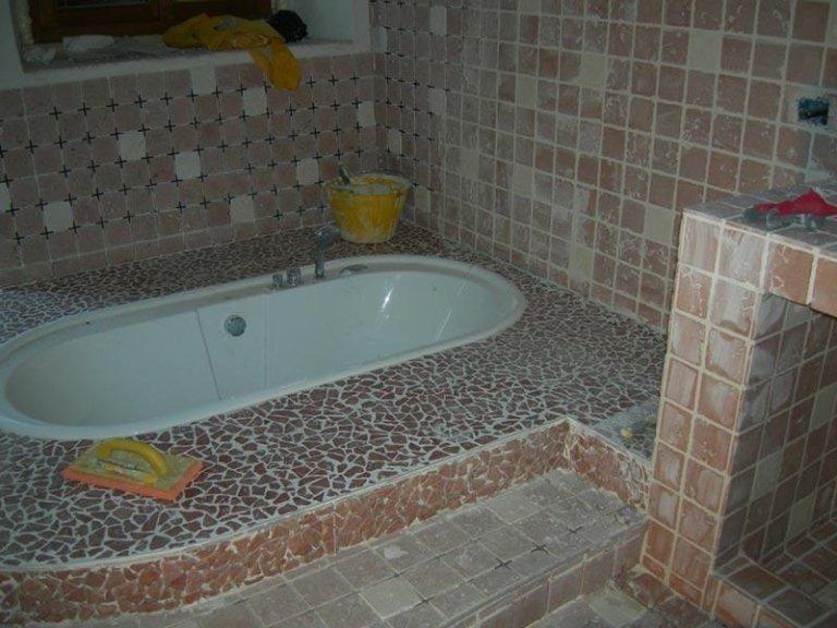 Installazione vasca da bagno