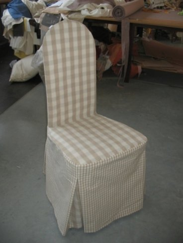 sedie rivestite in tessuto