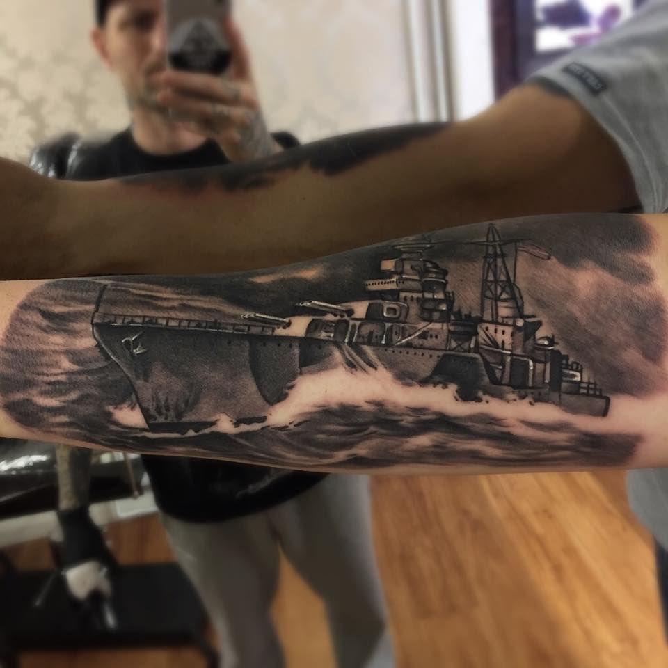 warships tattoo
