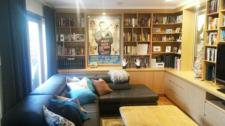 custom loungeroom fitout