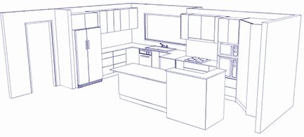M & M Kitchens & Joinery cad drawing