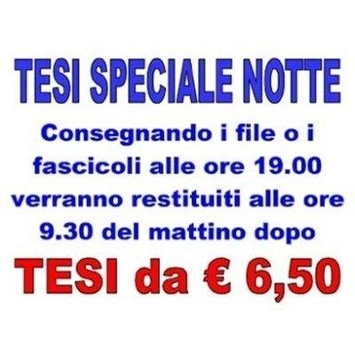 Tesi speciale notte, Firenze