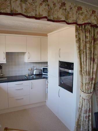 white kitchen storage