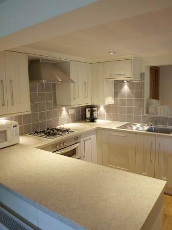 illuminated kitchen