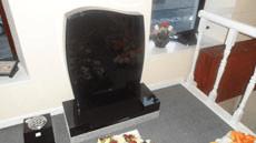 Polished headstone