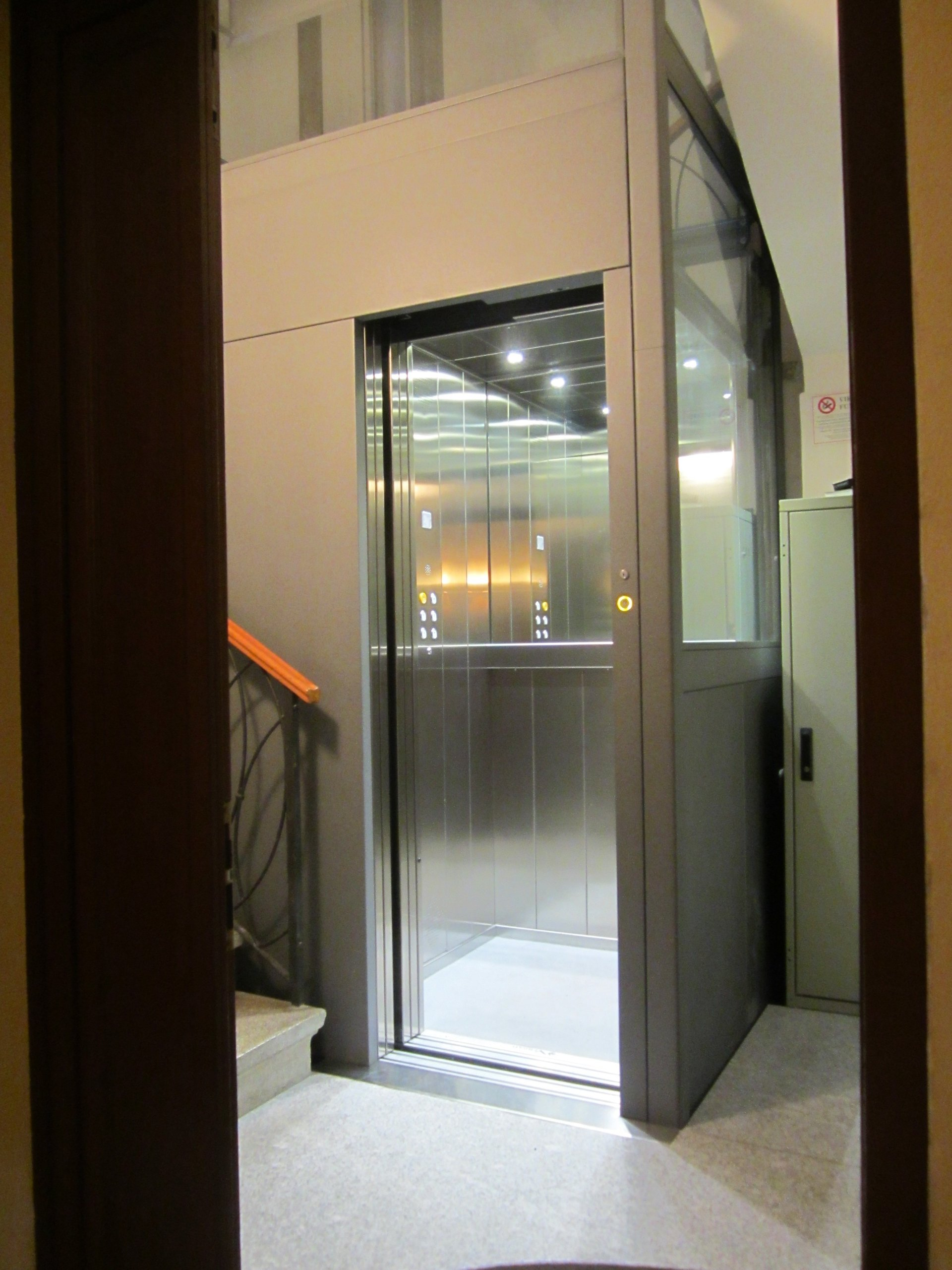 ascensore panoramica interni