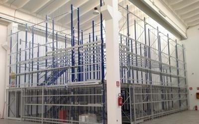magazzino ascensori ricambi -vista angolare