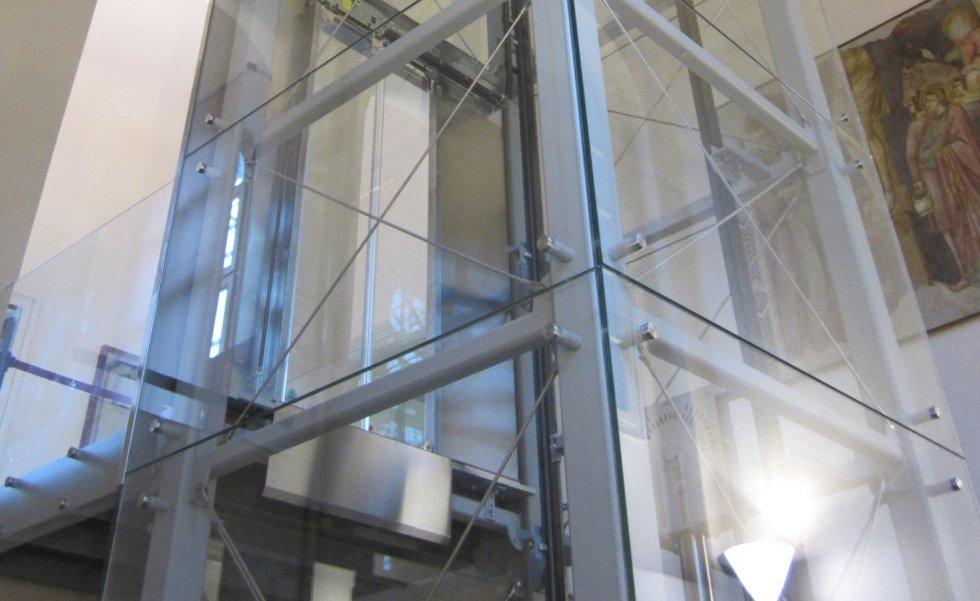 ascensore panoramico in vetro