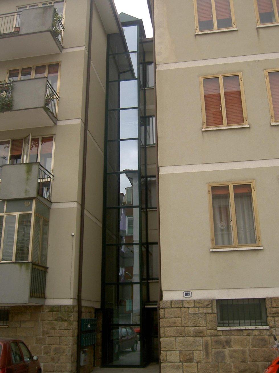 ascensore esterno per condominio