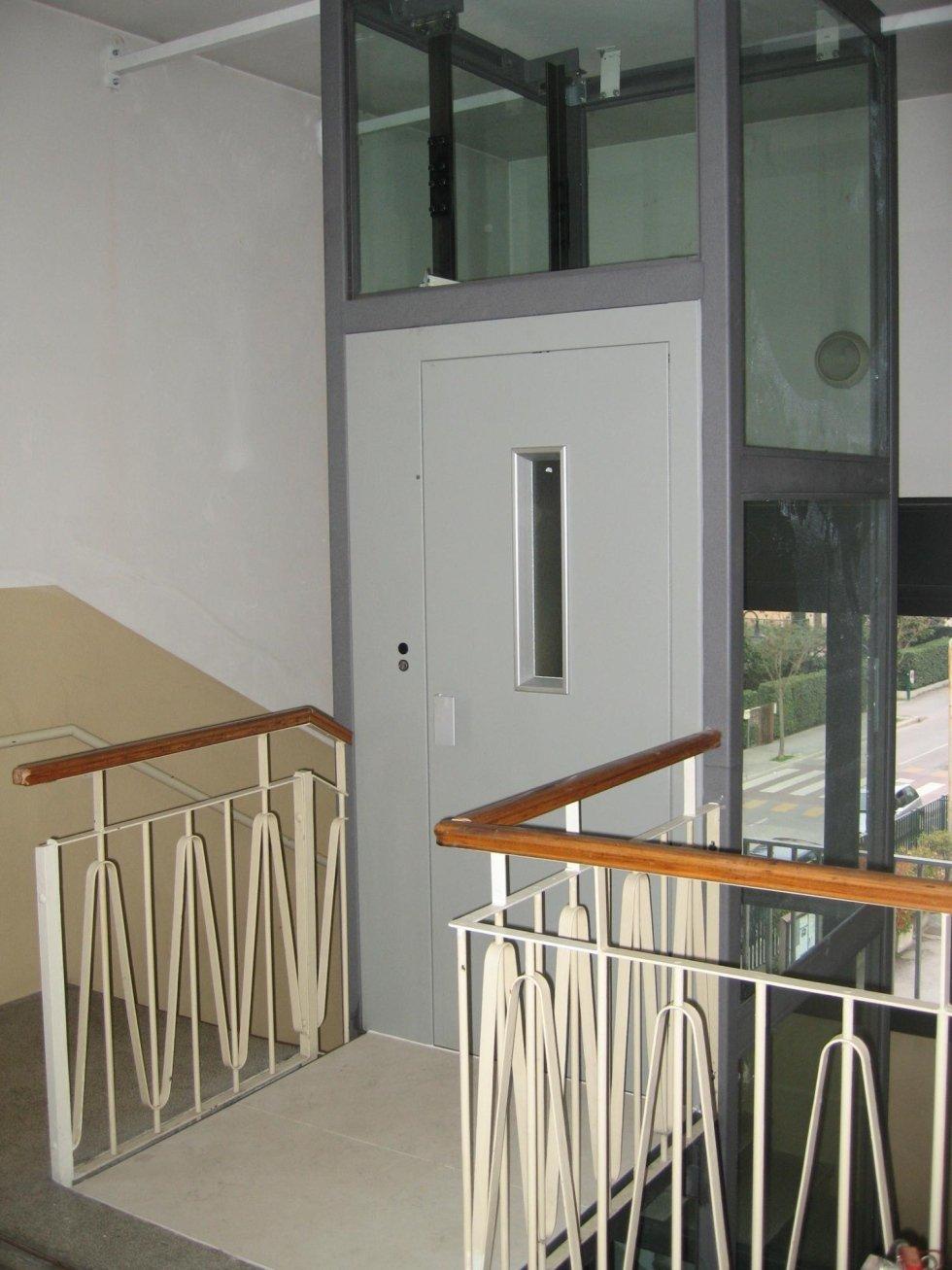 porte di piano manuali con piattaforma elevatrice panoramica